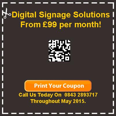 digital signage discount coupon